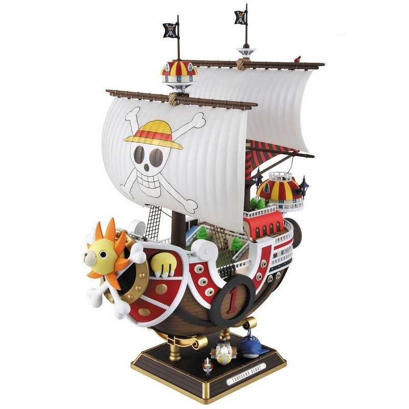 все цены на  Anime One Piece Thousand Sunny Pirate ship Figure 35cm Thousand Sunny Boat ship PVC Action Figures Toys Collectible Model Toy  онлайн