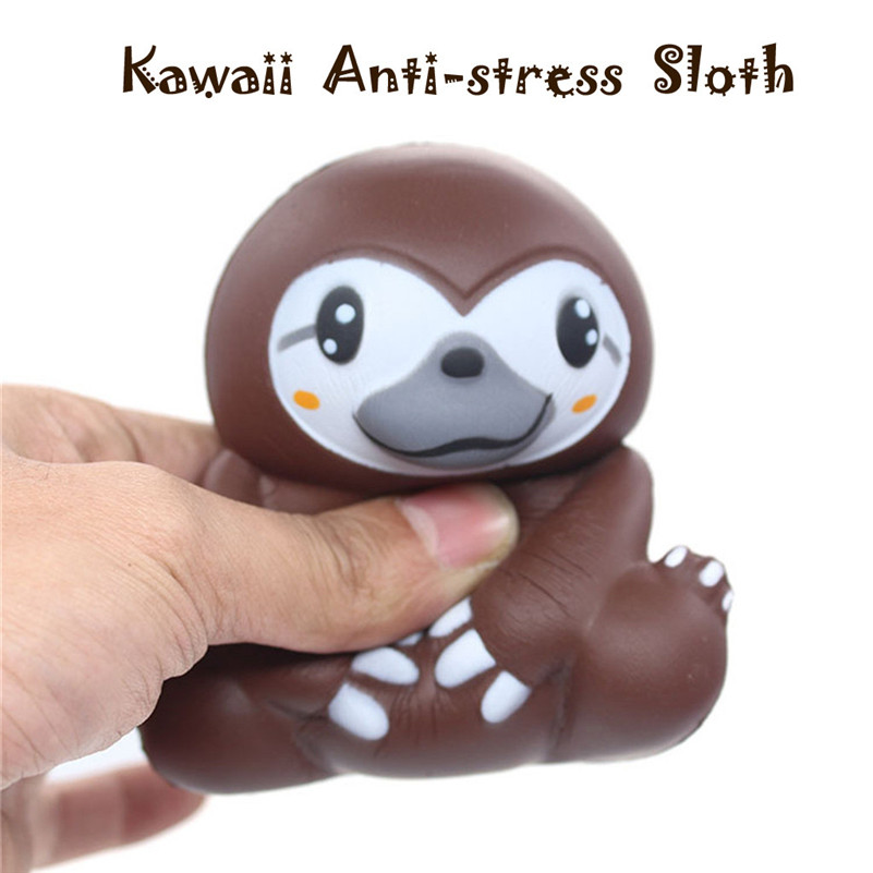 Cute Sloth Decompression Slow Rising Squeeze Relieve Squishies Toys  Kawaii Stationery Gift For Kid Child Boy Girl  A1