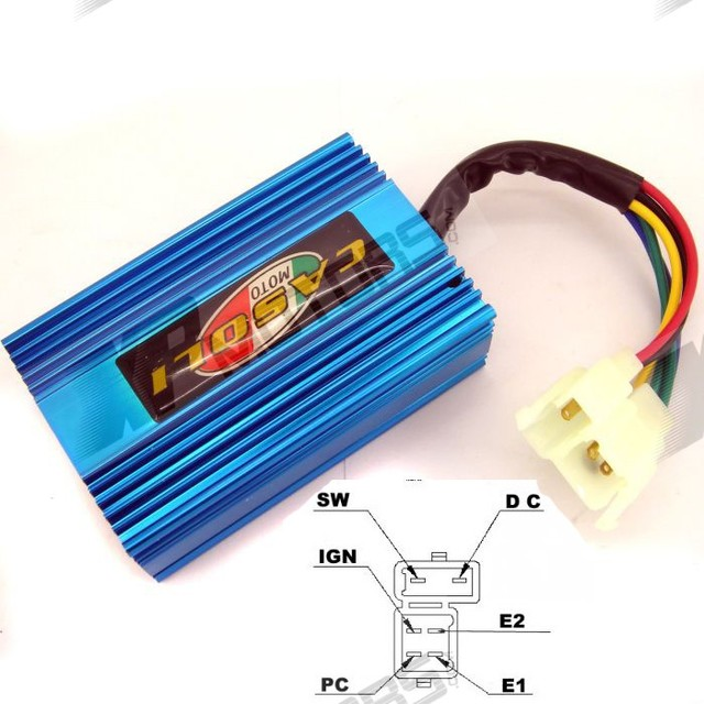 High Performance 6 PIN DC CDI Fit For 250cc Go Karts GY6 Scooter Moped