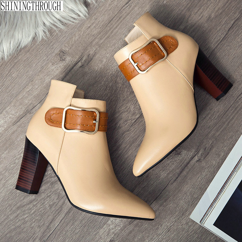 2019 high heels women ankle boots cow leather ladies boots spring autumn dress party shoes woman black apricot large size 34-43 2018 fashion women handbags tassel knitting bags luxury brand female totes bag large capacity shoulder bags bolsas feminina sac