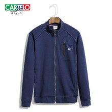 Cartelo brand 2016 Men's fashion collar cardigan jacket concise pure jacket coat collar cardigan long sleeved knit leisure