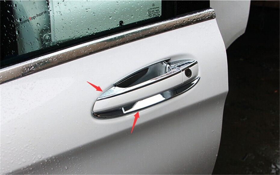 12 pièces pour Mercedes Benz GLA 200 220X156 2015 2016 2017 ABS poignée de porte latérale poignée de porte couvercle et garniture de moulage de bol