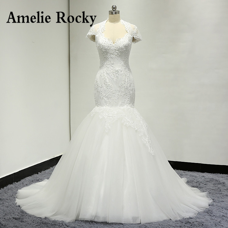 Vestido De Noiva 2019 Mermaid Wedding Dresses Sexy Backless Pearl Beads Wedding Gowns Vestido De Casamento