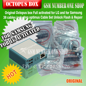 2020 original new z3x pro set activated box for samsung with 4 cable c3300 p1000 usb e210 for new update s5 note4 free shippin gsmjustoncct  100% Original Octopus box for Samsung &LG Pre-activated New update For Samsung S5 (package with 38 cables)