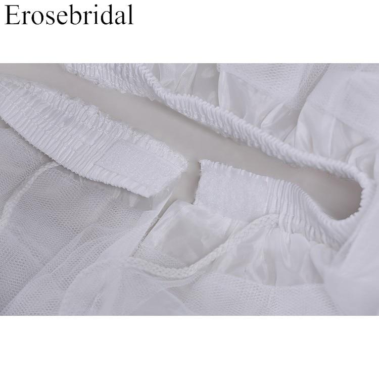 24 Hours Shipping White Tulle Girls Petticoat Slip With No Hoop Short Underskirt For Ball Wedding Dress 2018 New Arrival