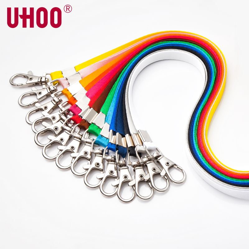 100 pcs UHOO 6741 10mm Lobster Lanyard for  ID Card Holder Exhibition Card Buss Card Name Badge Holder Neck Suspension Cord Rope-in Badge Holder & Accessories from Office & School Supplies    2