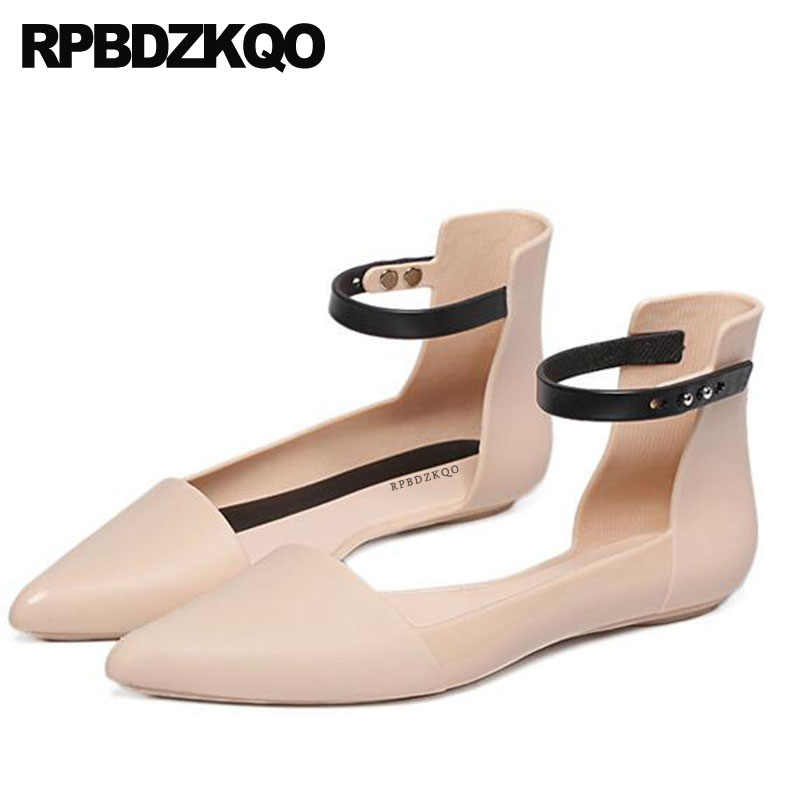 Nude Navy Blue Pointed Toe Rubber Sole Flats Comfortable Brand Cheap Shoes  China Sandals Vintage Women 60f483d97b0c
