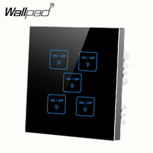5 gangs 1 way Black,DIY touch light wall switch,Customize words,LED 12V micro switch,Compatiable with any lamps,Free Shipping new arrival 2 gangs 1 way crystal glass led black diy touch light wall switch touch switch free customize words free shipping