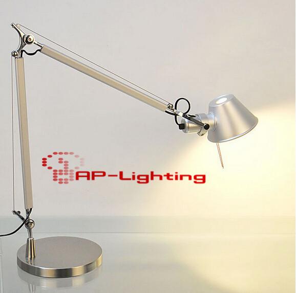Alta calidad plegable brazo largo del of the telescópica lámpara de escritorio estudiantes trabajan de lectura lámpara de noche dormitorio, e27, AC110-240V