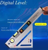 Electronic Digital Display Level Gauge Measuring Instrument Aluminum Alloy High precision Digital Level Decoration Tools MEIKE