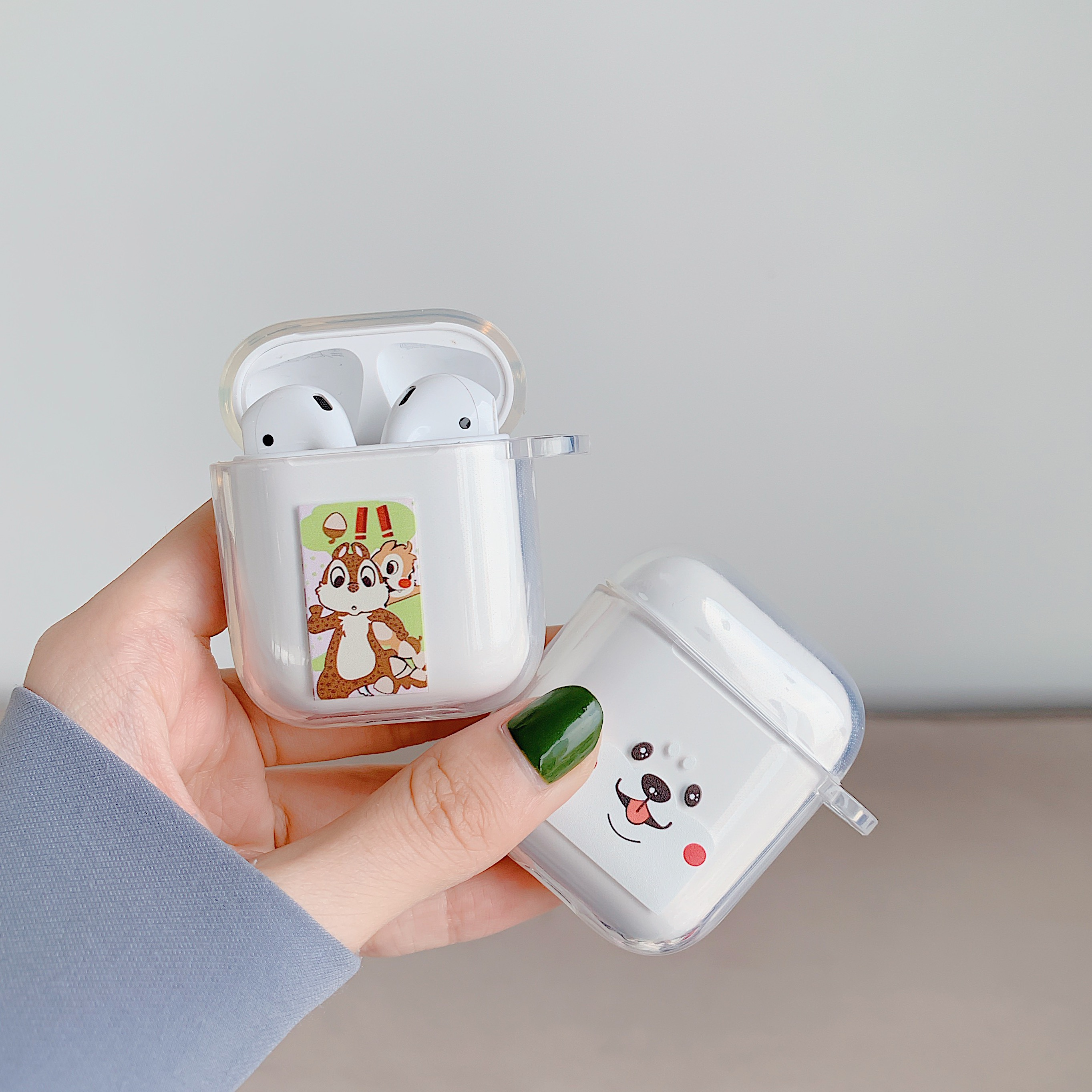 Cartoon Animals yoghourt egg Wireless Bluetooth Earphone Cute Case For Apple AirPods 2 1 Silicone Charging in Earphone Accessories from Consumer Electronics