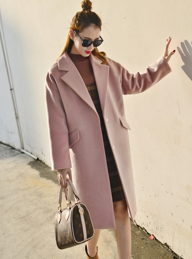 2016 Autumn Winter Fashion Women Wool Coat Loose Imitation ...