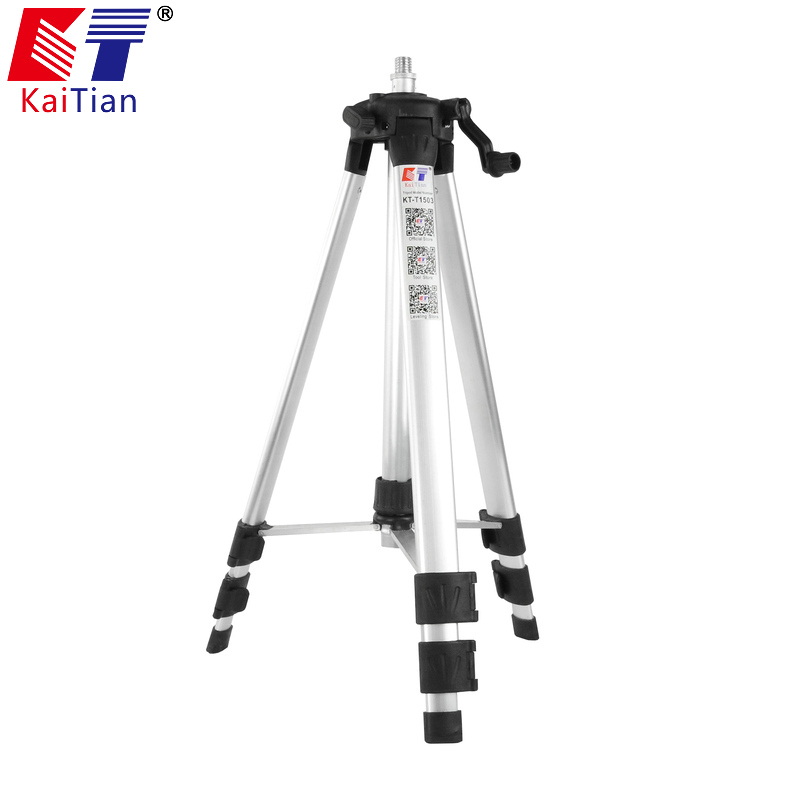 Kaitian Laser Level Tripod for Adjustable Rod Leveling Bubble 5/8 Inch with Extension Rod and Adjustable Height for Level Laser drill buddy cordless dust collector with laser level and bubble vial diy tool new