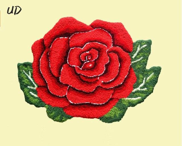 Tapis en forme de fleur/tapis de fleur tapis rose tapis doux porte/tapis de sol tapis alfombras, tapis lavables en Machine cama mesa e banho