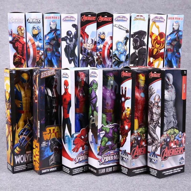 2018 nuevo modelo de figura de acción de PVC de Los Vengadores Spiderman Capitán América Iron Man juguete coleccionable para niños