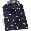 S-4XLwholesale freeshipping 2016 летний стиль с коротким рукавом цветочный печатные рубашка Корейской моды случайные мужские slim fit цветочные рубашки