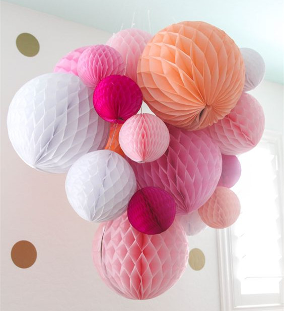 Honeycomb Ball Decorations Simple Mixed 5 Sizes Tissue Paper Honeycomb Balls Decoration20 Colors Inspiration Design