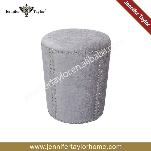 Jennifertaylor OR08 816 Living Room Round Ottoman Upholstered Ottoman  Furniture Ottoman Hotel Ottoman Stool