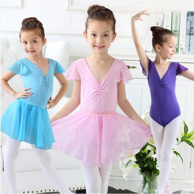 a79fc95c3 110 160cm Kids Ballet Dress Girls Gymnastic Leotard Dancewear ...