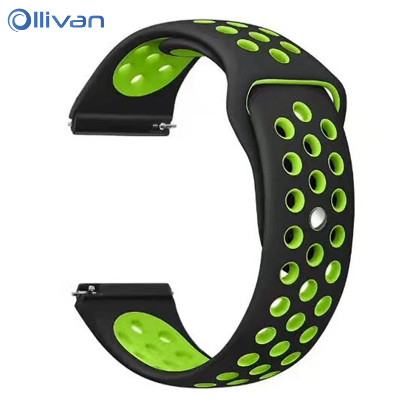 Silicone Strap For Xiaomi Huami Amazfit Bip GTR Stratos 2 Pace Band 22MM 20MM Sport Strap For Samsung Gear S3 Huawei GT Active