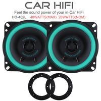 1 Pair 4 Inch 40W Car HiFi Coaxial Speaker Vehicle Door Auto Audio Music Stereo Full
