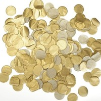 Free ship vintage circle 2.5cm metallic gold color biodegradable tissue paper confetti wedding birthday party table decoration