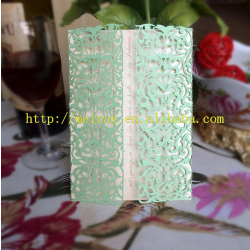 Mint Green Color Baby Shower Invitation Cards From Mery China In Invitations Home Garden On Aliexpress
