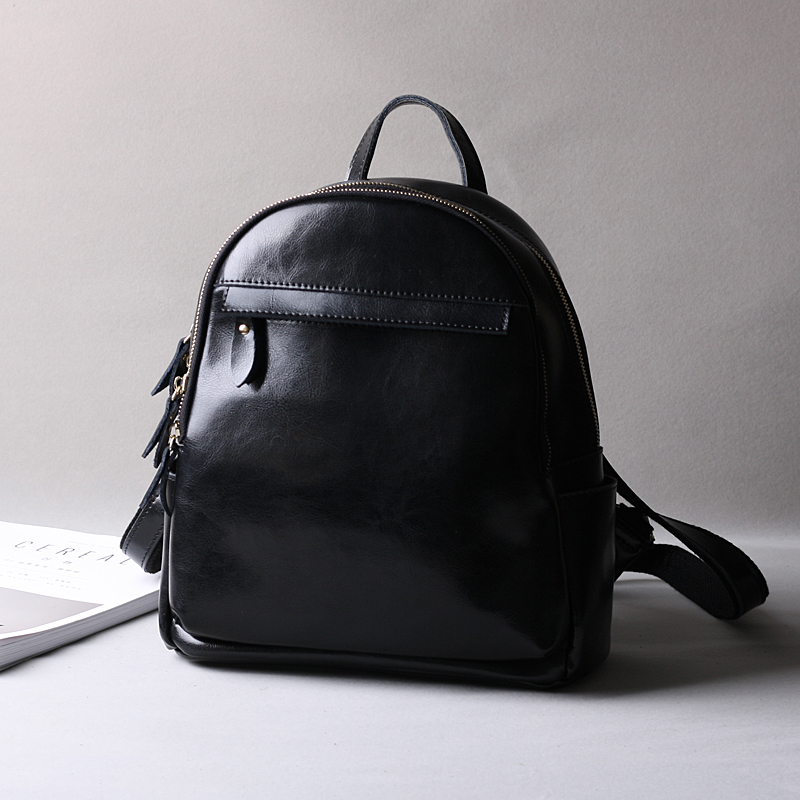 MESOUL Brand Fashion Oli Wax Leather Backpack Women Fashion Travel Backpacks  Female Split Leather Small Designer School Bags -in Backpacks from Luggage  ... 6319150fbb081