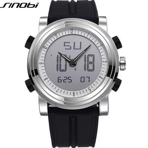 Image 4 - Relogio Masculino SINOBI ספורט דיגיטלי קוורץ שעוני יד עמיד למים קוורץ גברים של שעון ז נבה Hybird שעונים erkek kol saati