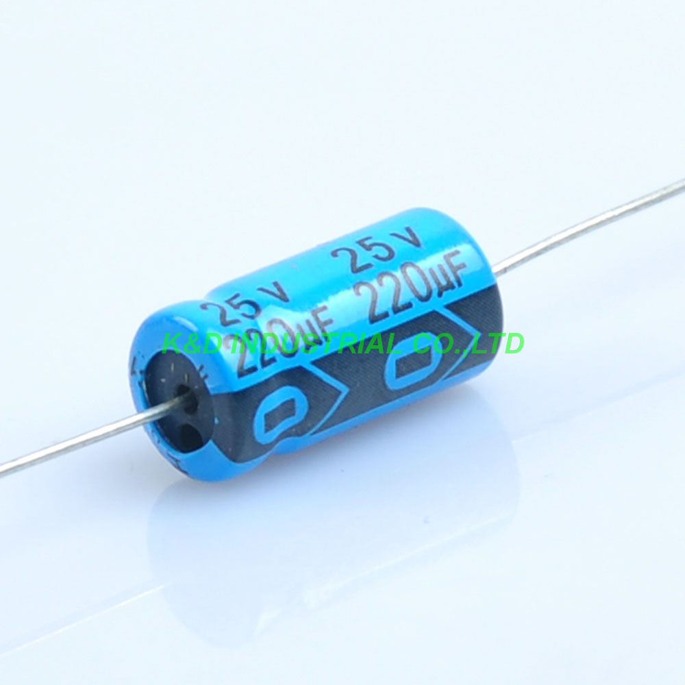 10pcs 220uf 25V Axial Electrolytic Capacitor 8 16mm for Audio Guitar Tube Amp DIY in Electrical Plug from Consumer Electronics