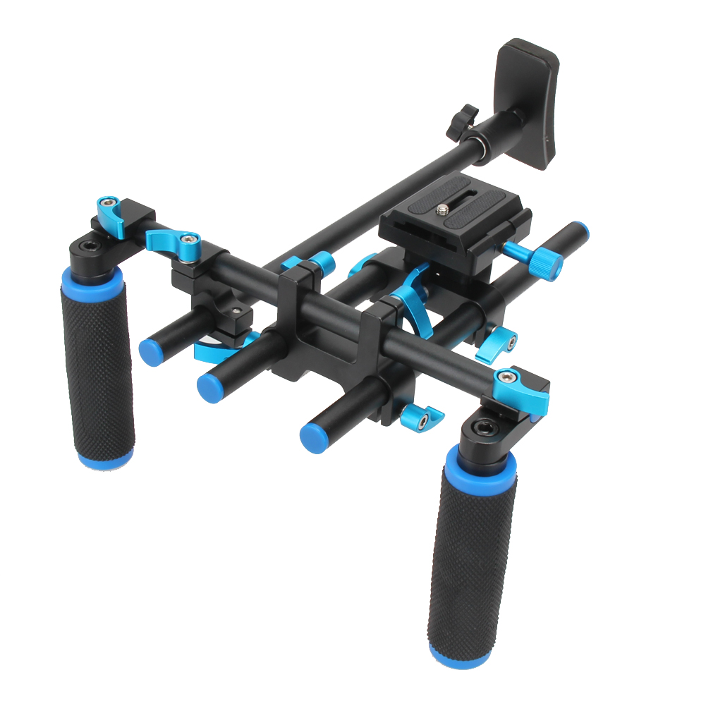 F14123 Commlite CS-V1 High Strength Aluminum Alloy DSLR Shoulder Mount Rig Shoulder Pad Bracket For All DSLR Cameras Camcorders f14123 commlite cs v1aluminum alloy handgrip holder dslr shoulder mount rig camera stabilizer dslr rig easy for shooting camera