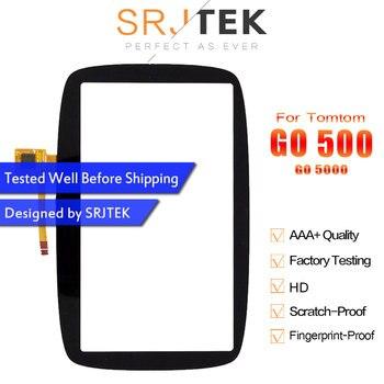 Srjtek ل Tomtom GO 500 الذهاب 5000 شاشة تعمل باللمس لوحة زجاج محول الأرقام الاستشعار قطع غيار الشاشة