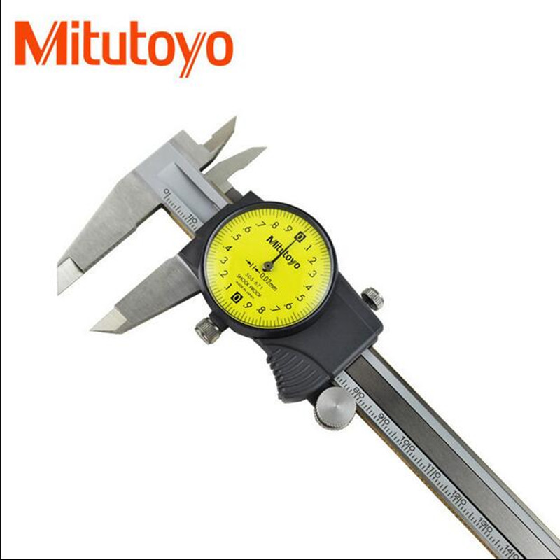 Mitutoyo Dial Vernier Calipers 0-150 0-200 0-300mm 6In 8In 12In Plating Caliper Micrometer Measuring Stainless Steel Inspection