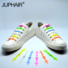 JUP1-12Sets(12Root/Set)Electric blue Noctilucent Fashion Womens Sports Mens Running Shoes No Tie Laces Elastic Silicone Shoelace jup1 12 sets 16root set multi color lace shoelace elastic silicone men women boy girl sneakers sport basketball running laces