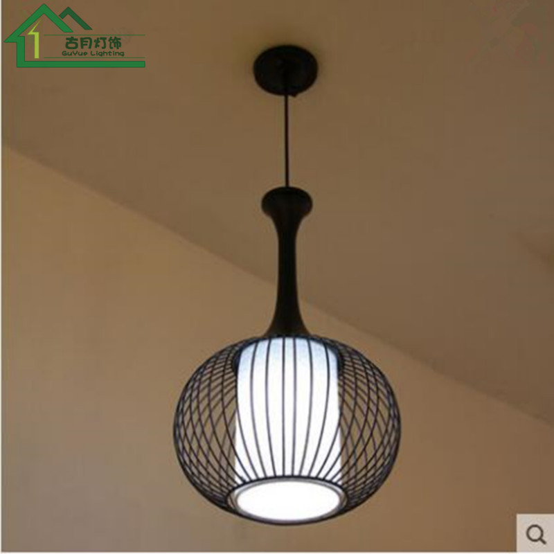 Nordique simple pendentif lumières industriel vent restaurant bar café chambre créative unique tête fer rétro oiseau cage LU808159 - 3