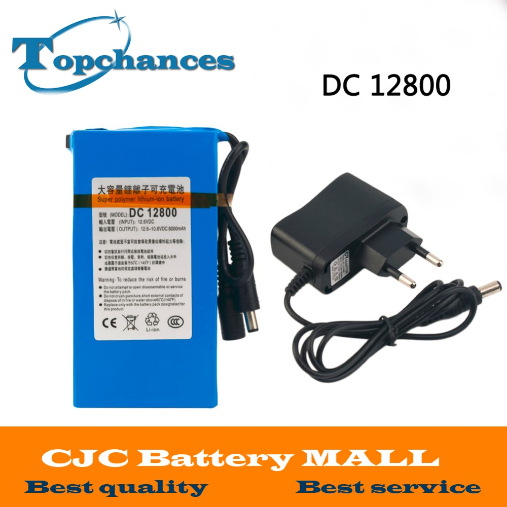 High Quality Newest Super Rechargeable Portable Lithium-ion Battery <font><b>DC</b></font> 12V 8000mAh DC12800 With Plug image