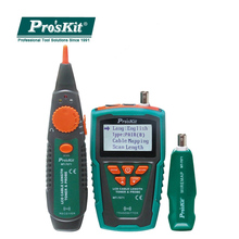 Cable Tester Pro'sKit MT-7071 Break Hunt Check Line Device LCD Network Cable Length Tester Detector Tracker Wire Fault Locator noyafa nf 8108 multipurpose lcd display network tester breakpoint length tester tracker line finder wire tester cable locator
