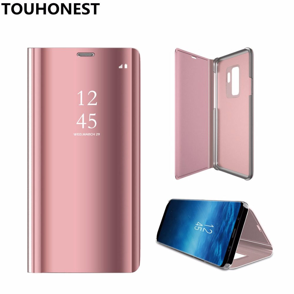 scarpe sportive c53dc d8d4e US $4.19 40% OFF|For Huawei P20 lite Mirror Clear View Flip Cover case For  Huawei P10 lite P 10 Plus P9 P8 lite 2017 Honor 9 mate 10 pro P smart-in ...