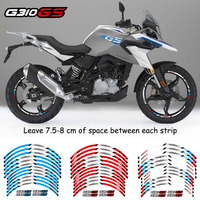 High quality 12Pcs Motorcycle front&Rear Edge Outer Rim Sticker Wheel Reflective waterproof Decals For BMW G310GS