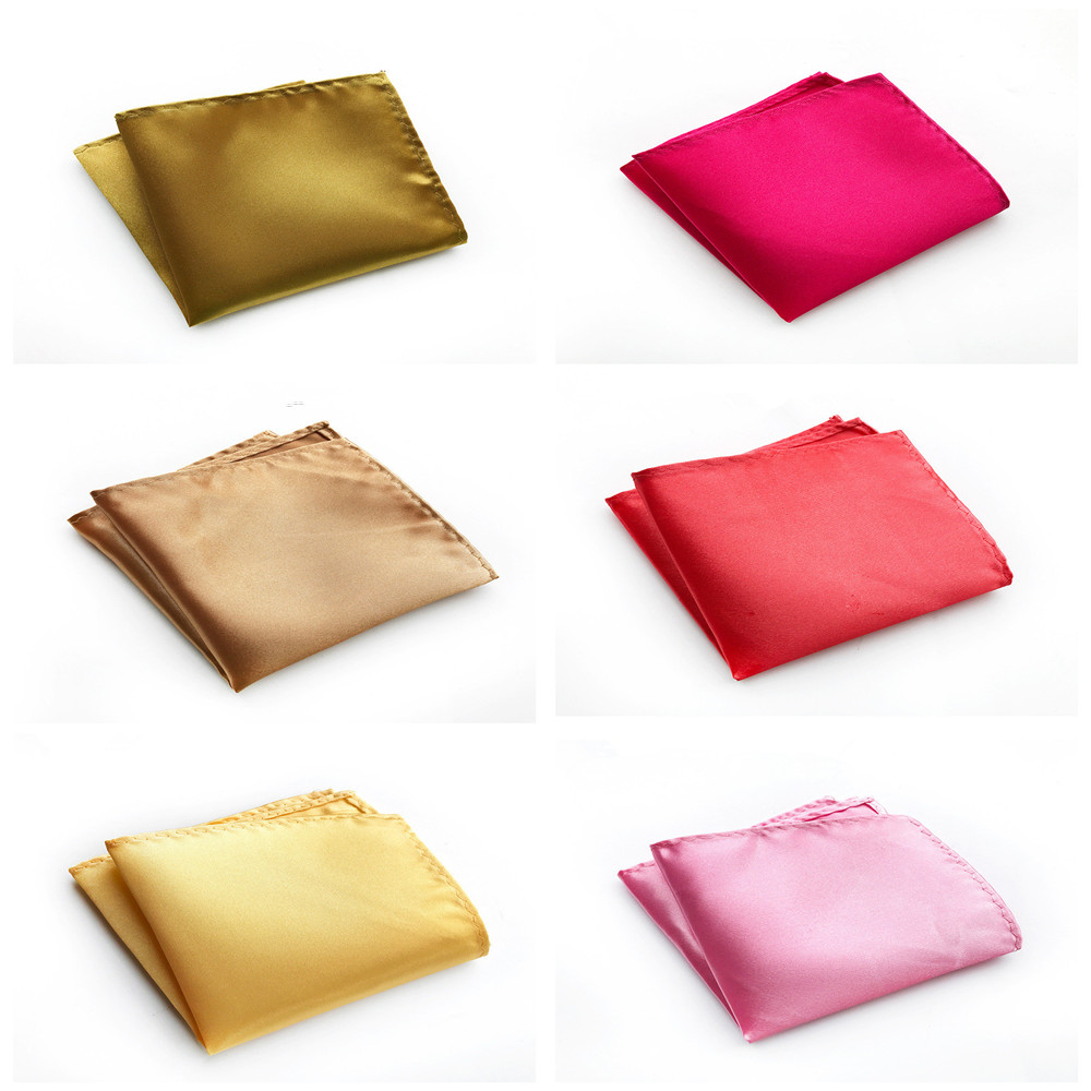 Multi-color Optional Design Simple Solid Color Handkerchief Pocket Towel Business Men's High Quality Polyester Pocket Towel