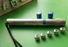 Discount! Super Powerful blue laser pointer 450nm 200w 200000mw LAZER Flashlight Burning Match cigar cutting paper plastic+5 caps+gift box