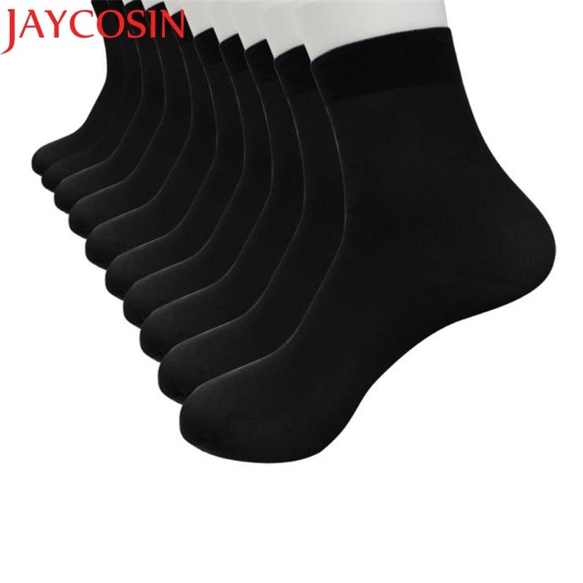 JAYCOSIN Summer Autumn 10 Pairs Bamboo Fiber Ultra-thin Elastic Silky Short Socks Men Casual