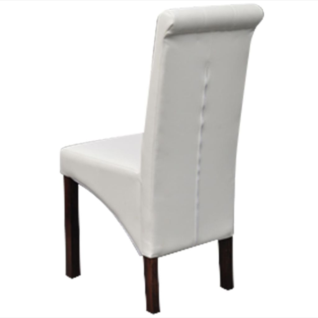 Fabulous Us 340 99 Vidaxl 6 Scroll Back Artificial Leather Wooden Dining Chairs White In Dining Chairs From Furniture On Aliexpress Com Alibaba Group Machost Co Dining Chair Design Ideas Machostcouk