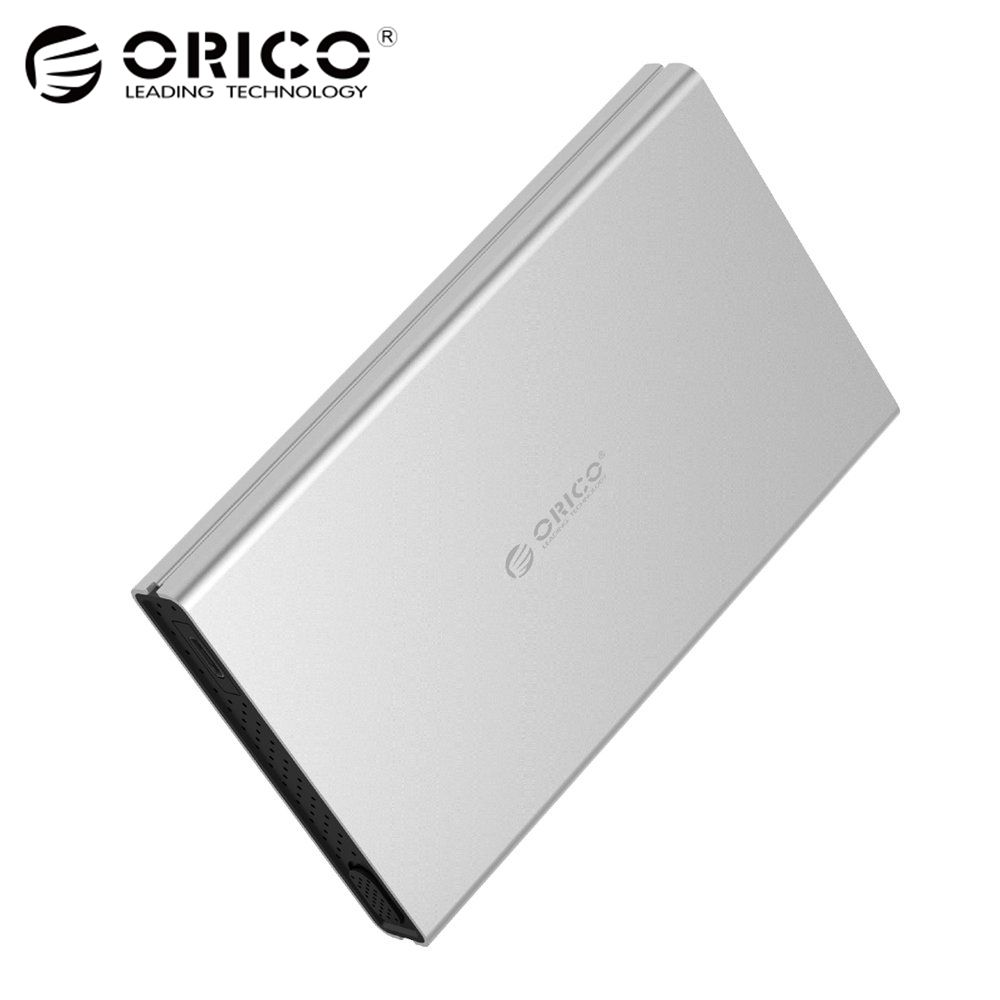 ORICO HDD Enclosure USB3.0 / Type-C to SATA3.0 Tool Free Aluminum HDD Case Support UASP for 2.5 inch SATA HDD/SSD ugreen hdd enclosure sata to usb 3 0 hdd case tool free for 7 9 5mm 2 5 inch sata ssd up to 6tb hard disk box external hdd case