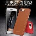 Total de grãos de couro de luxo capa para iphone7 4.7 ''original qialino marca genuína pele de vaca natural case para iphone 7 plus 5.5''