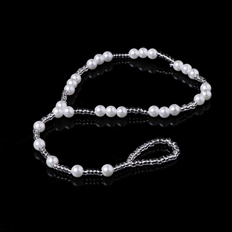 Women Bridal Wedding Bare Feet Ankle Strap Chain Ankle Bracelet With Strass