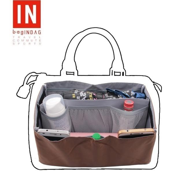 6171bfadd Bolso en bolsa bolso cartera monedero insertar organizador bolso de mano  para mujer Ajuste rápido 25
