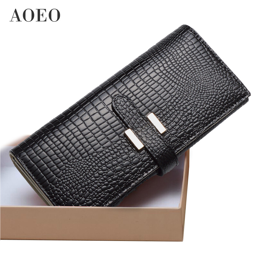 AOEO wallet female genuine leather slim purse for women long and short Ladies handy purses and handbag womens wallets and purses цена и фото