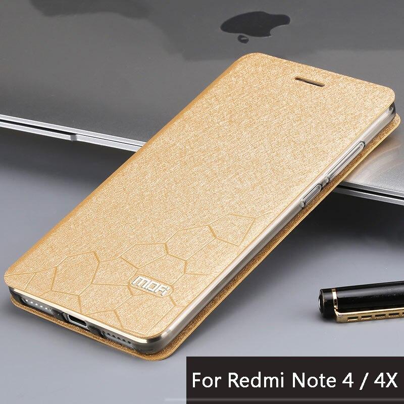 """imágenes para Xiaomi redmi nota 4 caso 4x Marca Mofi xiaomi redmi nota 4 pro caso de cuero Del Tirón de la cubierta + TPU caso suave Para redmi caso nota4 5.5"""""""