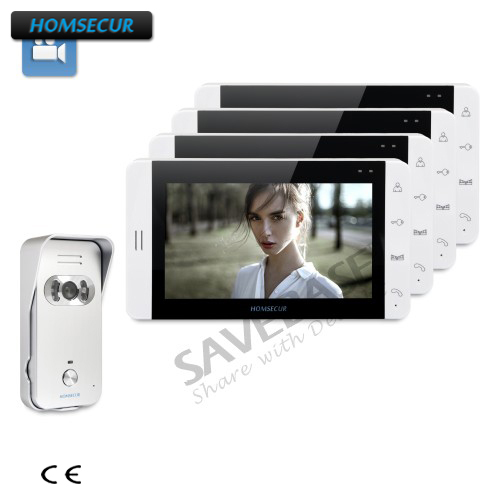 HOMSECUR 7 Wired Video&Audio Home Intercom+700TVLine Camera with 100 degree Wide View An ...